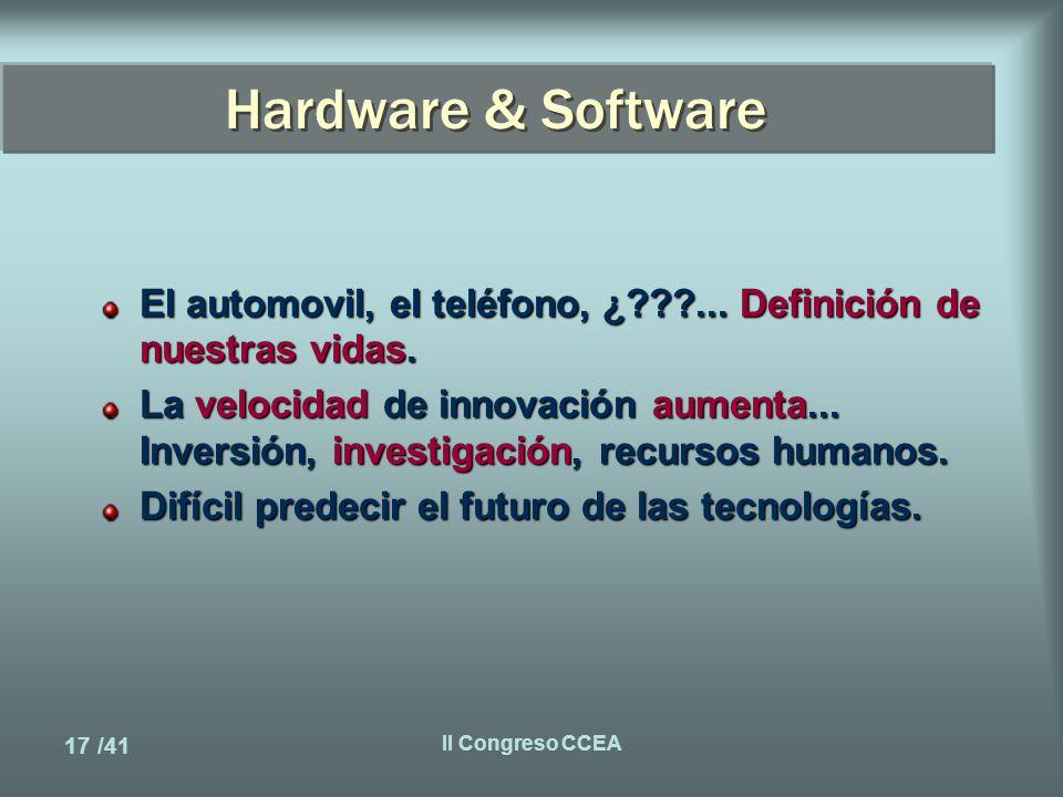 17 /41 II Congreso CCEA Hardware & Software El automovil, el teléfono, ¿ ...