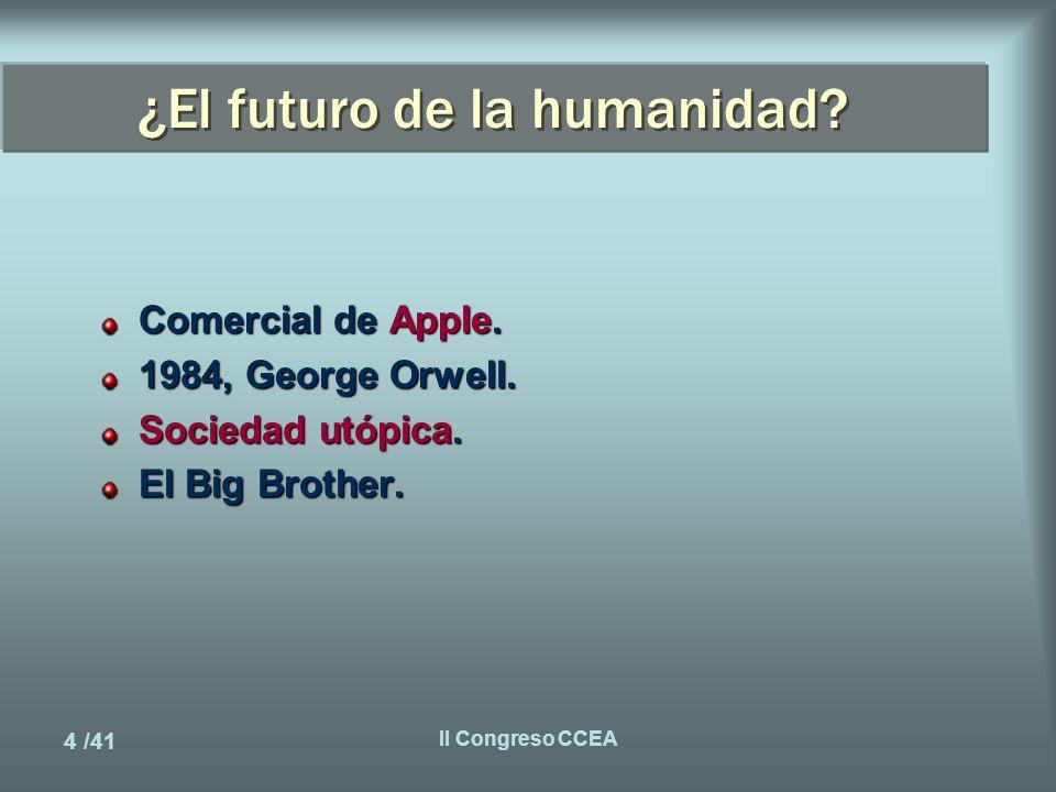 5 /41 II Congreso CCEA El problema...Las oportunidades Duplicación del conocimiento.