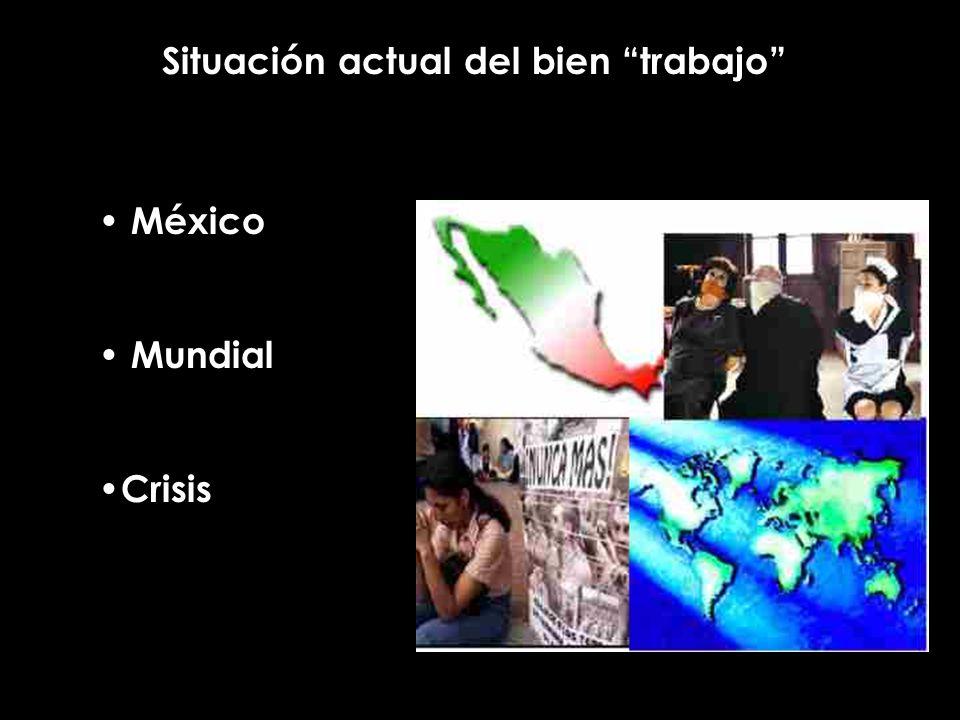 Situación actual del bien trabajo México Mundial Crisis
