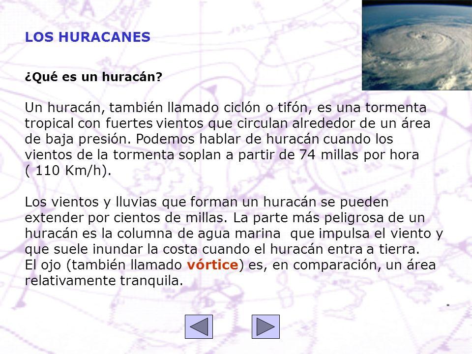 ¿Qué es un huracán? Un huracán, también llamado ciclón o tifón, es una tormenta tropical con fuertes vientos que circulan alrededor de un área de baja