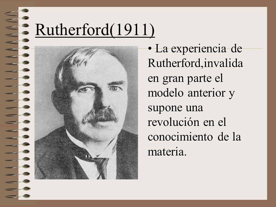 Rutherford introduce el modelo planetario, que es el más utilizado aún hoy en día.