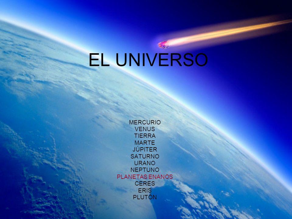 EL UNIVERSO MERCURIO VENUS TIERRA MARTE JÚPITER SATURNO URANO NEPTUNO PLANETAS ENANOS CERES ERIS PLUTÓN