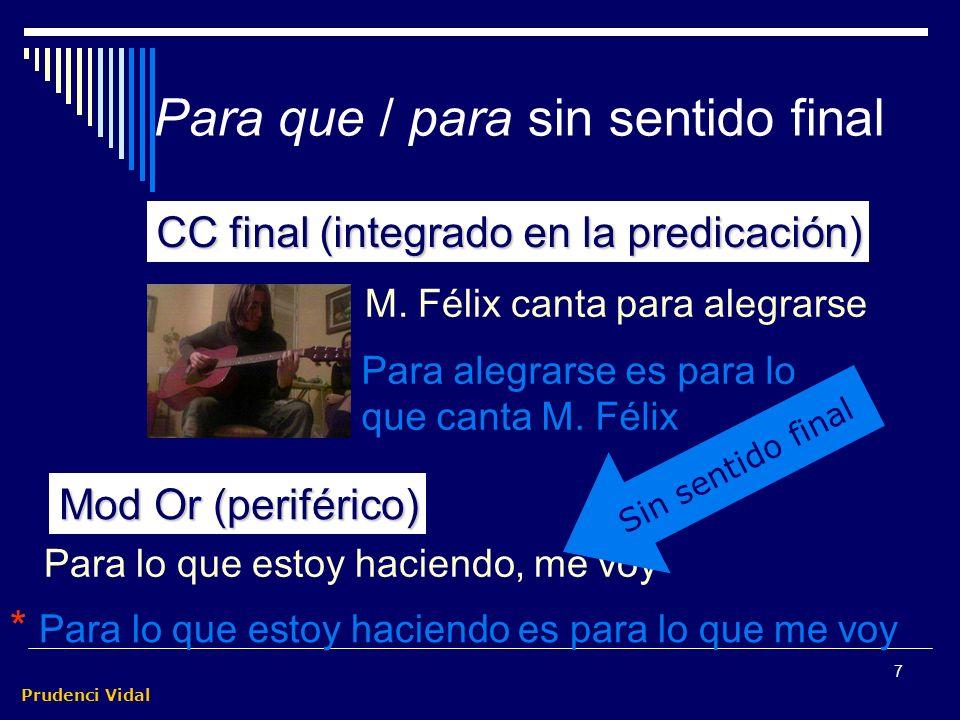 Prudenci Vidal 7 M.Félix canta para alegrarse Para alegrarse es para lo que canta M.