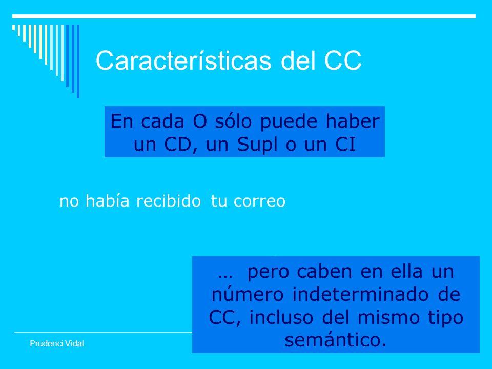 5 Prudenci Vidal Características del CC Ayer cuando llegué a casa.