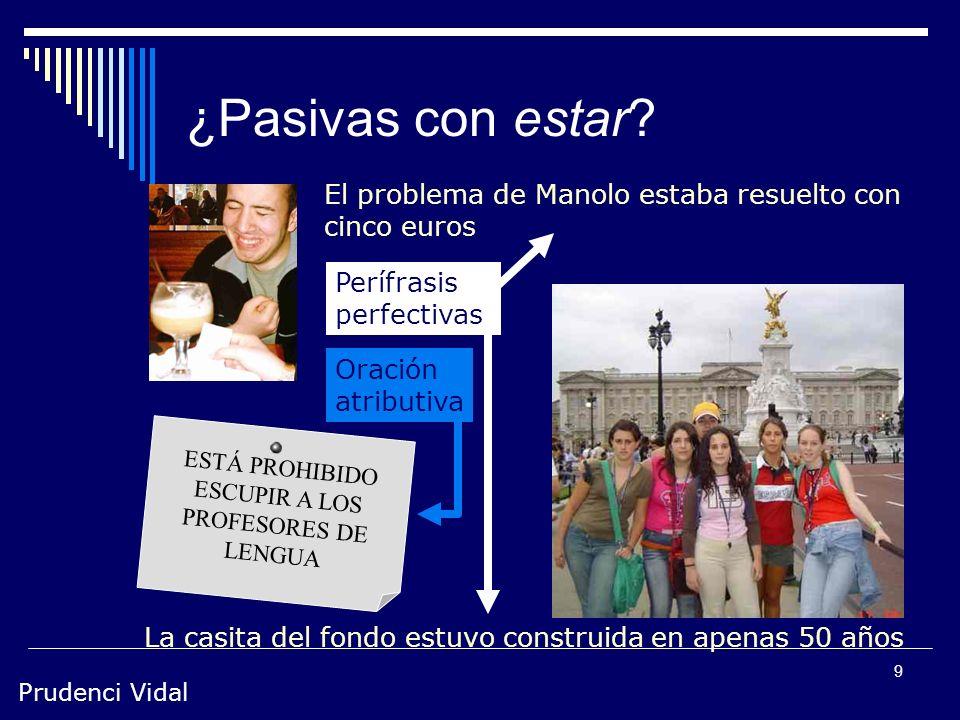 Prudenci Vidal 9 ¿Pasivas con estar.
