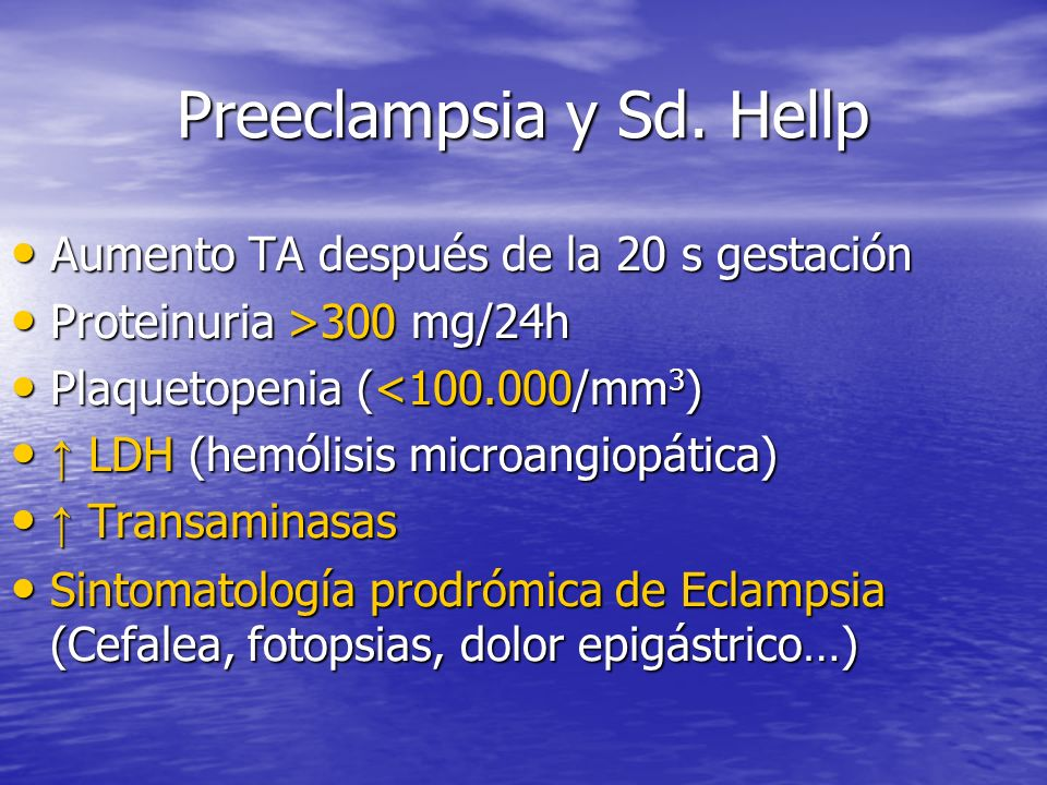 Preeclampsia y Sd.