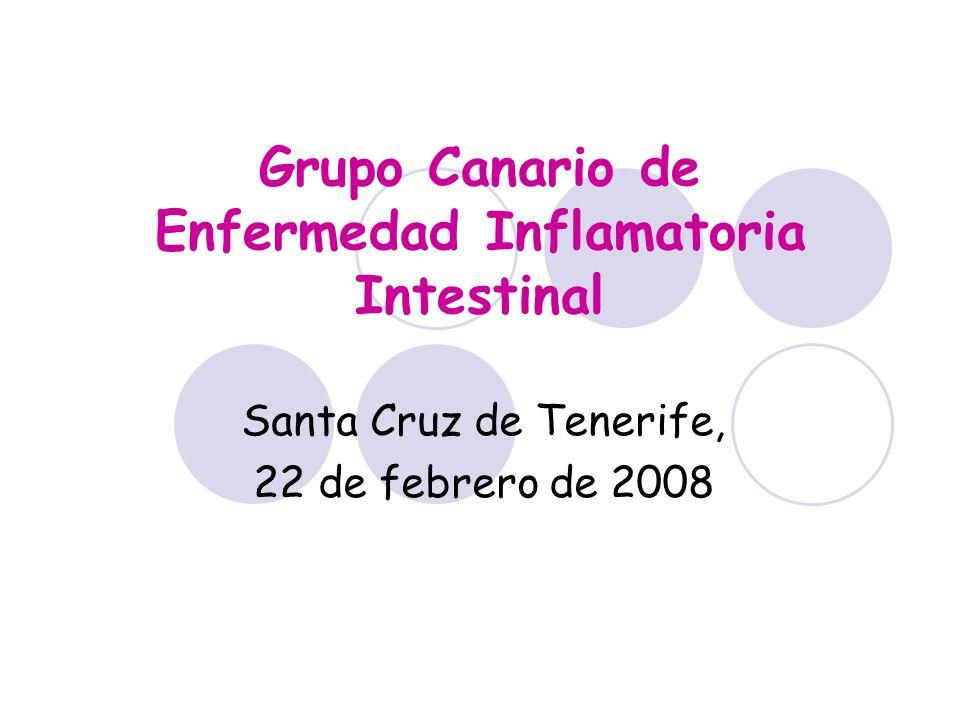 Grupo Canario de Enfermedad Inflamatoria Intestinal Santa Cruz de Tenerife, 22 de febrero de 2008