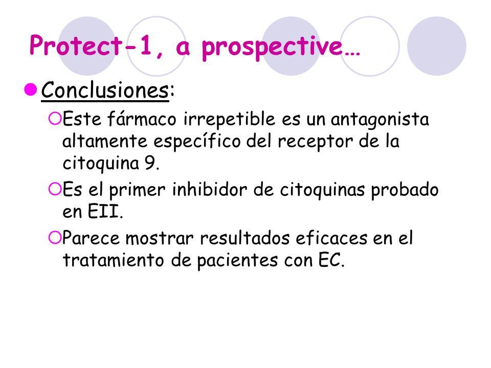 Protect-1, a prospective… Conclusiones: Este fármaco irrepetible es un antagonista altamente específico del receptor de la citoquina 9. Es el primer i