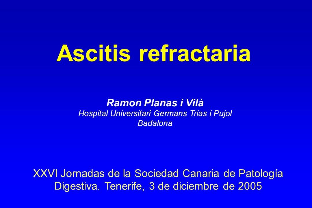 Calidad de vida en la ascitis refractaria: DPPI frente a paracentesis (SF-36) * Cambio respecto basal ** Cambio DPPI frente a paracentesis Campbell MS, et al.