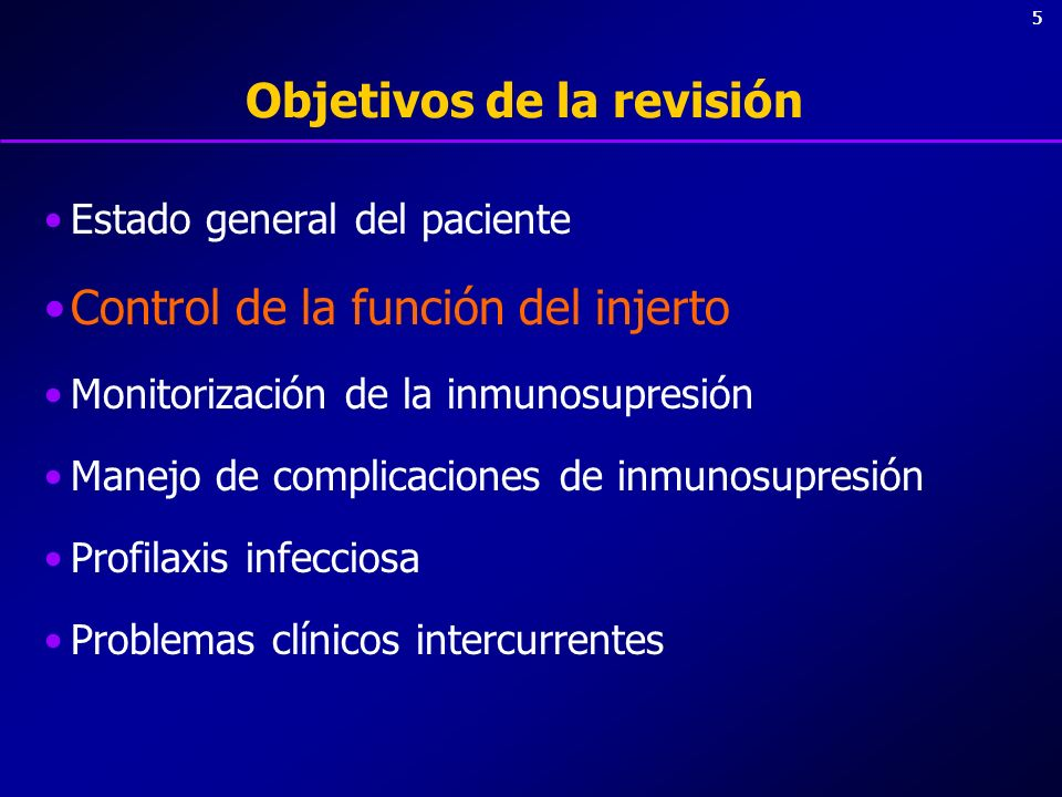 26 Analítica de rutina-2 Monitorización de inmunosupresores Niveles de ciclosporina (C2) –0-6 meses: 1000 ng/ml –6-12 meses: 800 ng/ml –>12 meses: 600 ng /ml