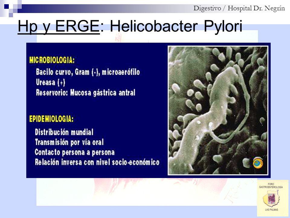 Hp y ERGE: Cepas Helicobacter Digestivo / Hospital Dr. Negrín