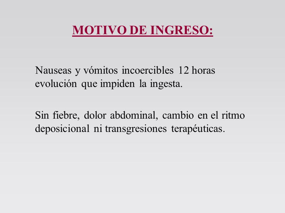 ANTECEDENTES PÁTOLÓGICOS: –Diabetes Mellitus tipo 1.