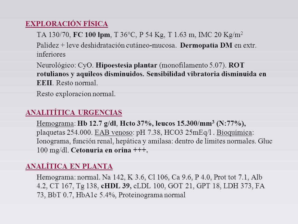 Pruebas complementarias EDA: Esofagitis grado A de Los Ángeles Ecografía abdominal: Dento de la normalidad.