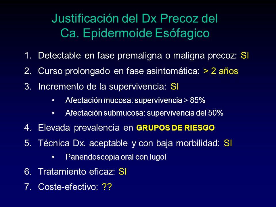 CANCERES DETECTADOS EDADFACTOR DE RIESGO TAMAÑO (mm) APcTNMTRATAM.pTNM 61Acalasia + etilismo 30 Carcinoma epidermoide pobremente dif.
