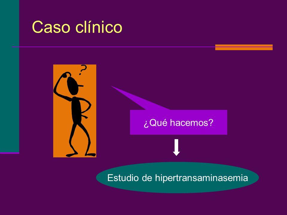 Caso clínico ¿Qué hacemos? Estudio de hipertransaminasemia