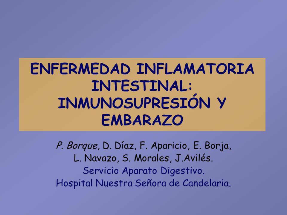 Resultados INMUNOSUPRESIÓN PREVIA AL EMBARAZO CasosEdadDxOtro Inmunosupresor Tiempo*Resultado 236EC+EPACyA Infliximab 52 m.