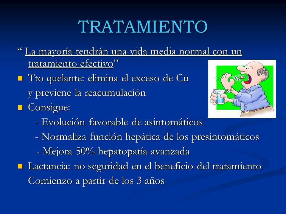 TRATAMIENTO La mayoría tendrán una vida media normal con un tratamiento efectivo La mayoría tendrán una vida media normal con un tratamiento efectivo