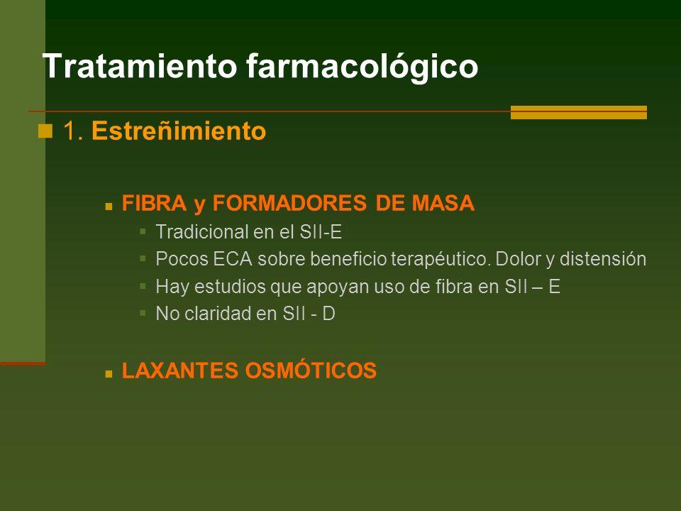 Tratamiento farmacológico 1.