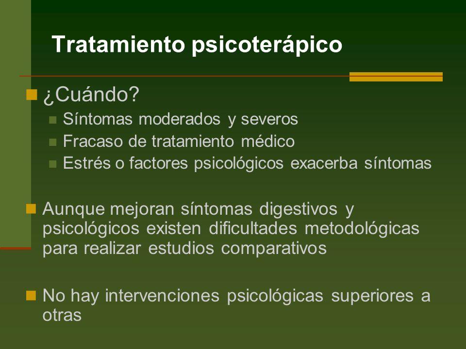 Tratamiento psicoterápico ¿Cuándo.