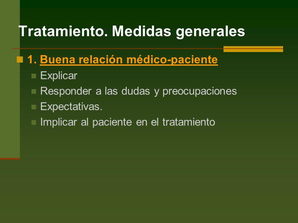 Tratamiento.Medidas generales 1.