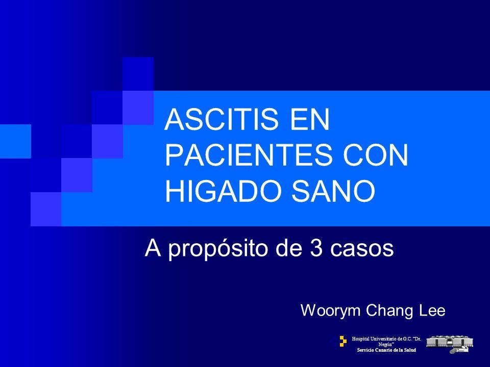 Caso nº3 TAC abdominal. Ascitis, implantes de nódulos a nivel peritoneal y esplenomegalia.