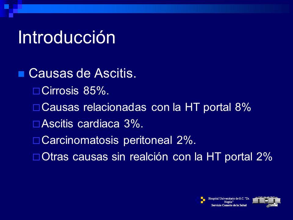 ASCITIS CASO 1CASO 2CASO 3 Hospital Universitario de G.C. Dr. Negrín Servicio Canario de la Salud