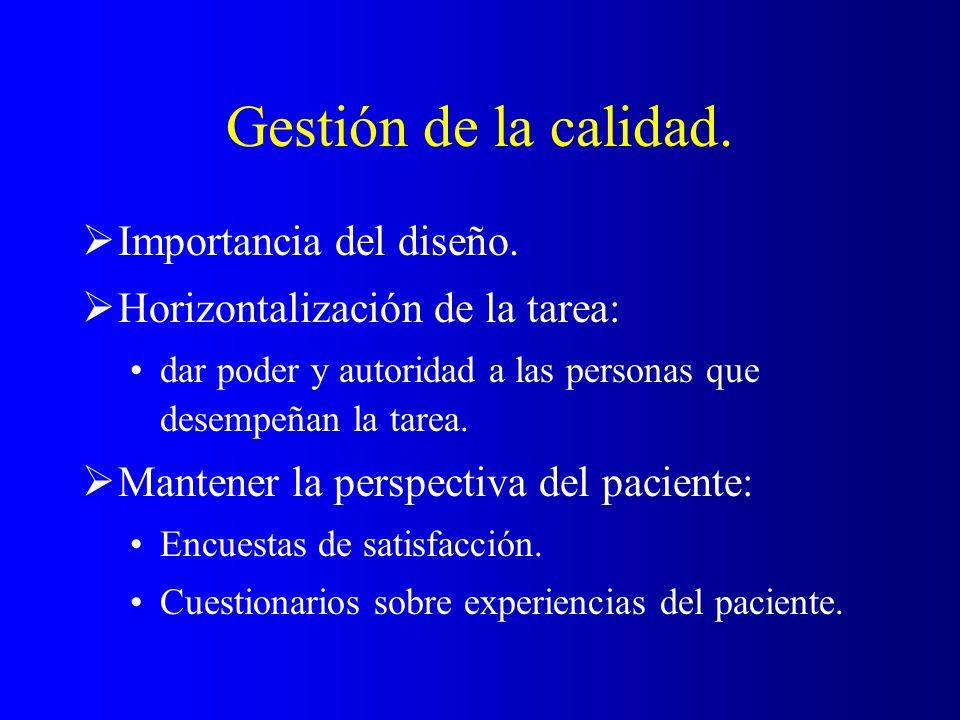 Satisfacción del paciente.Suele definirse como el cumplimiento de expectativas.