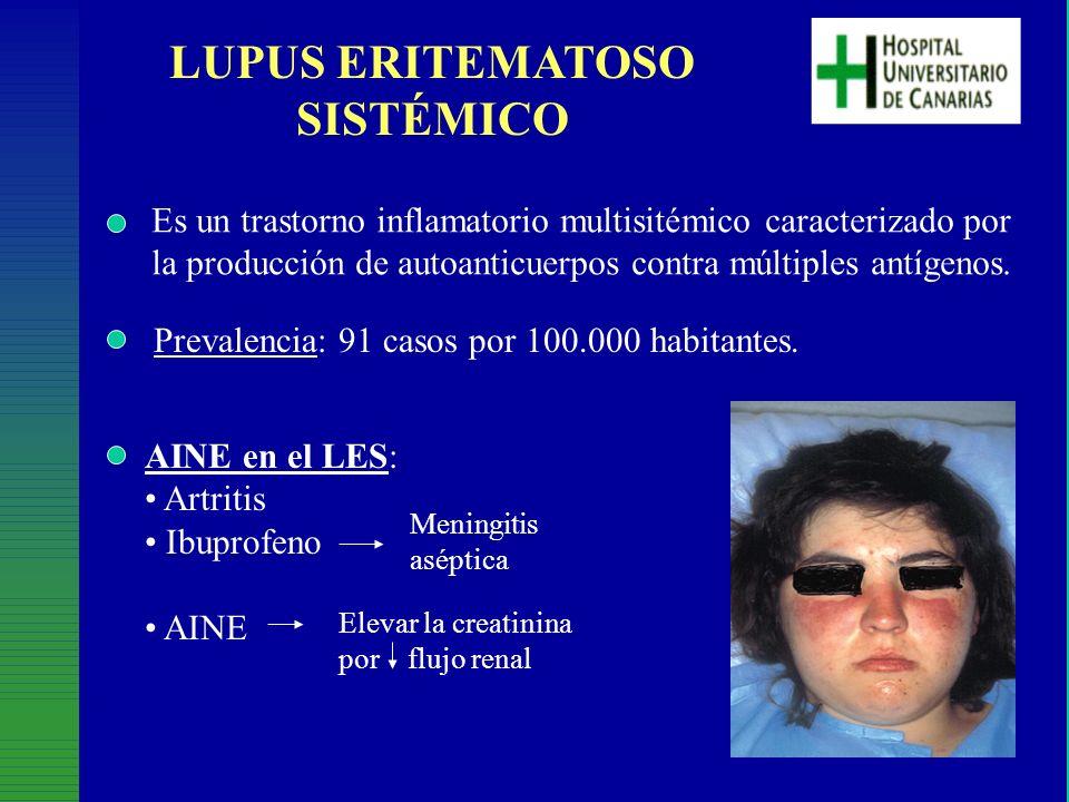 LUPUS ERITEMATOSO SISTÉMICO Es un trastorno inflamatorio multisitémico caracterizado por la producción de autoanticuerpos contra múltiples antígenos.