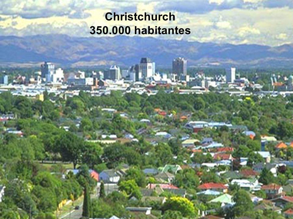 Christchurch 350.000 habitantes