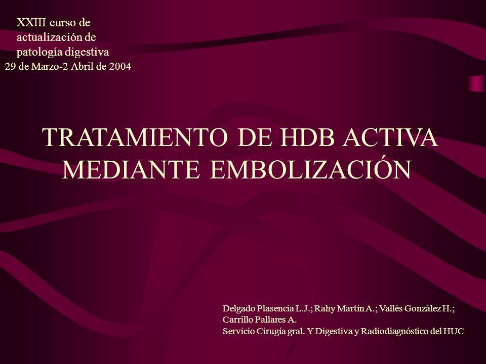 Delgado Plasencia L.J.; Rahy Martín A.; Vallés González H.; Carrillo Pallares A. Servicio Cirugía gral. Y Digestiva y Radiodiagnóstico del HUC XXIII c