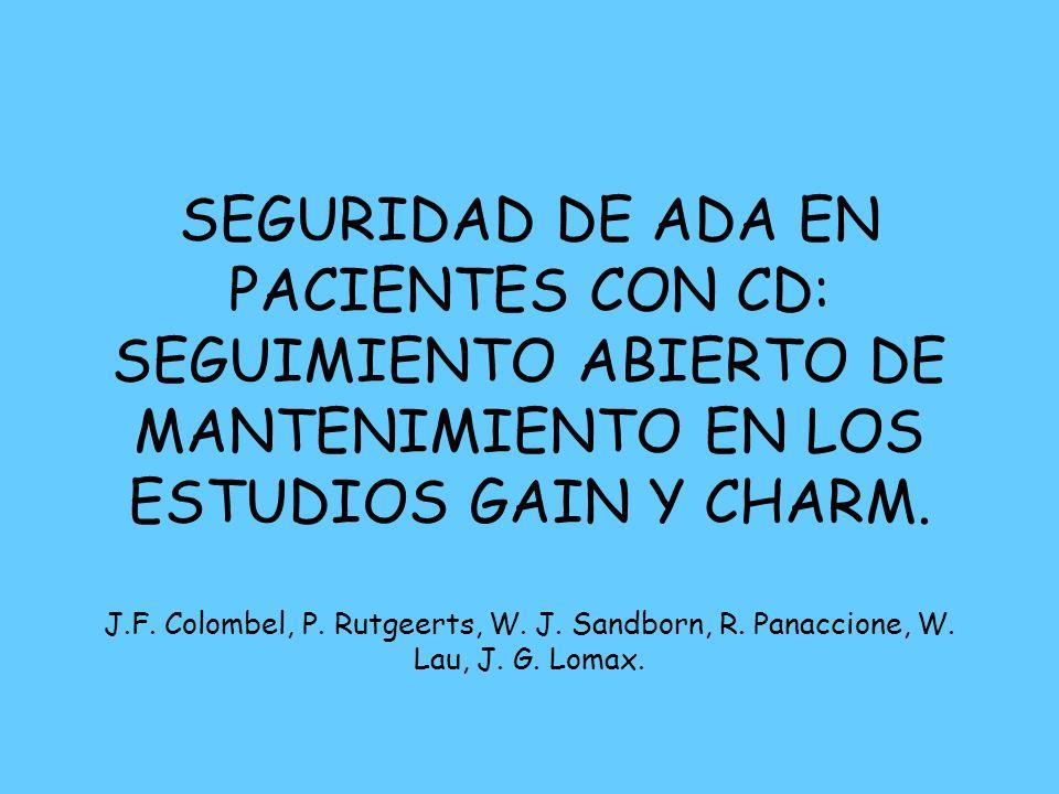 SEGURIDAD DE ADA EN PACIENTES CON CD: SEGUIMIENTO ABIERTO DE MANTENIMIENTO EN LOS ESTUDIOS GAIN Y CHARM.