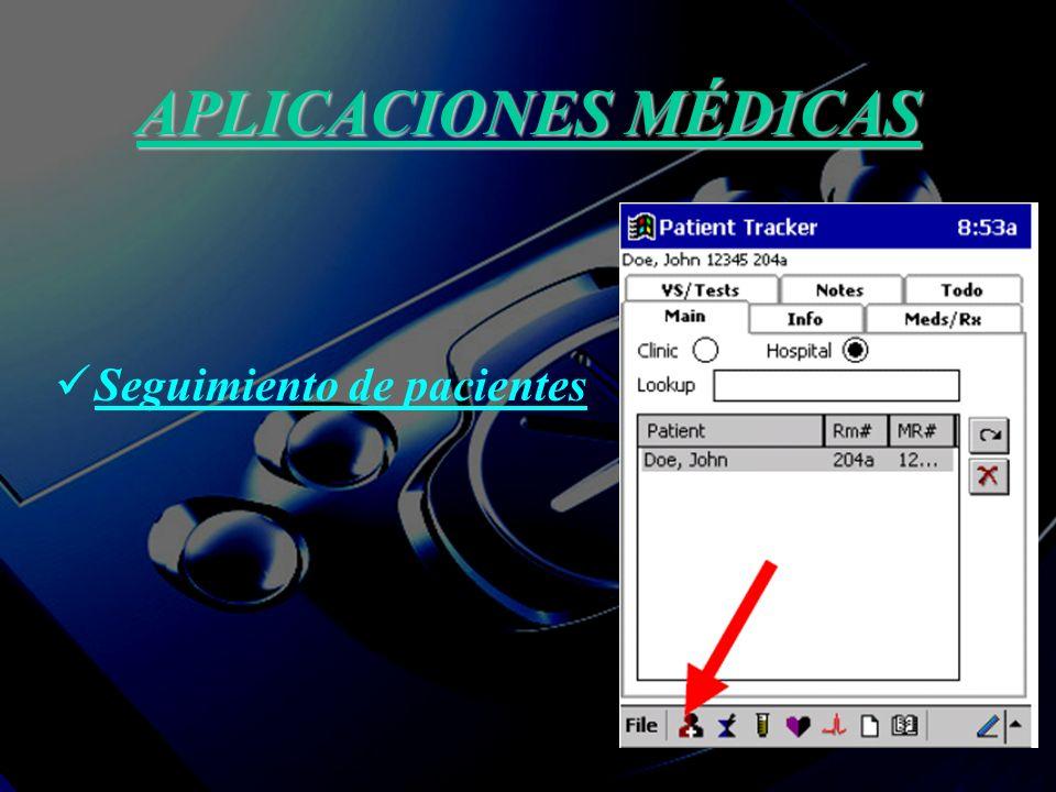 APLICACIONES MÉDICAS Seguimiento de pacientes