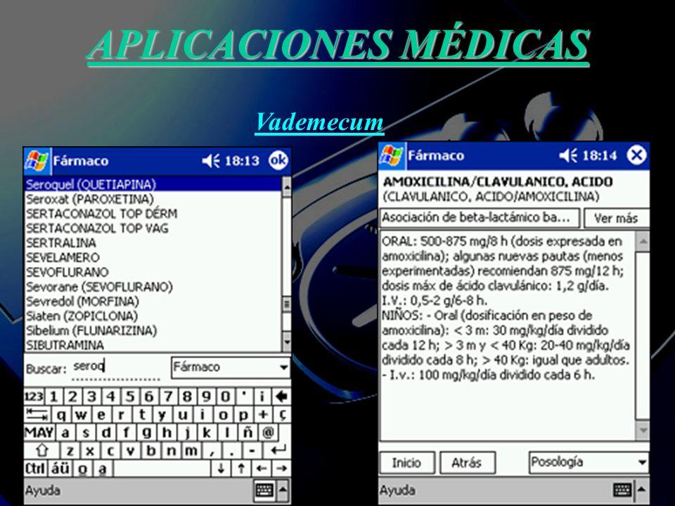 APLICACIONE MÉDICAS Estudios clínicos: Por medio de recogida de variables para análisis estadísticos.