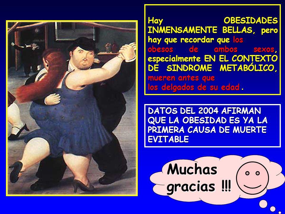 Muchas gracias !!! Hay OBESIDADES INMENSAMENTE BELLAS, pero hay que recordar que los obesos de ambos sexos, especialmente EN EL CONTEXTO DE SINDROME M