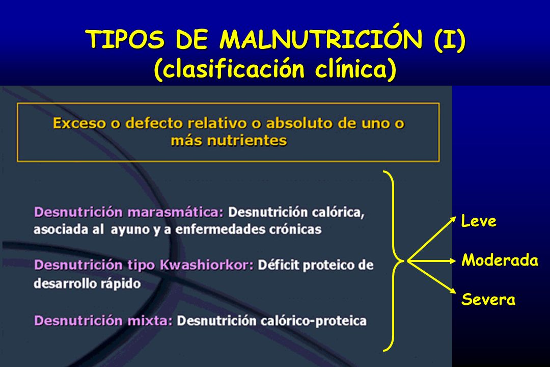 TIPOS DE MALNUTRICIÓN (II): MARASMO MARASMO (déficit de predomimio calórico): es crónica = hay adaptación (hipometabolismo) Marasmo severo (niño del trecer mundo) Marasmo severo (paciente del primer mundo con TCA)