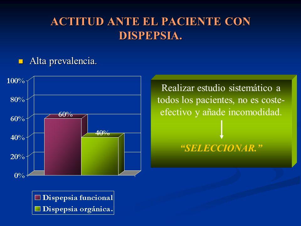 1)Edad >45-50 años.2) Signos- síntomas de alarma.