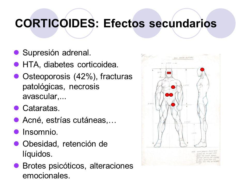 CORTICOIDES: Efectos secundarios Supresión adrenal.