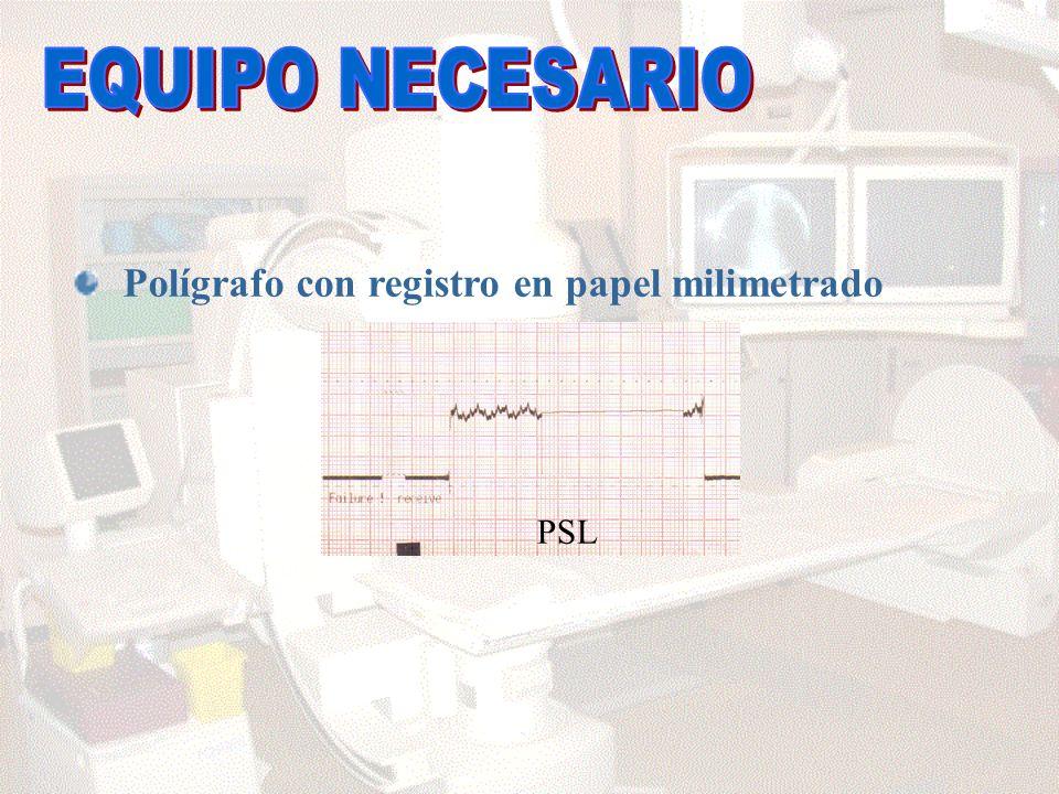 Polígrafo con registro en papel milimetrado PSL