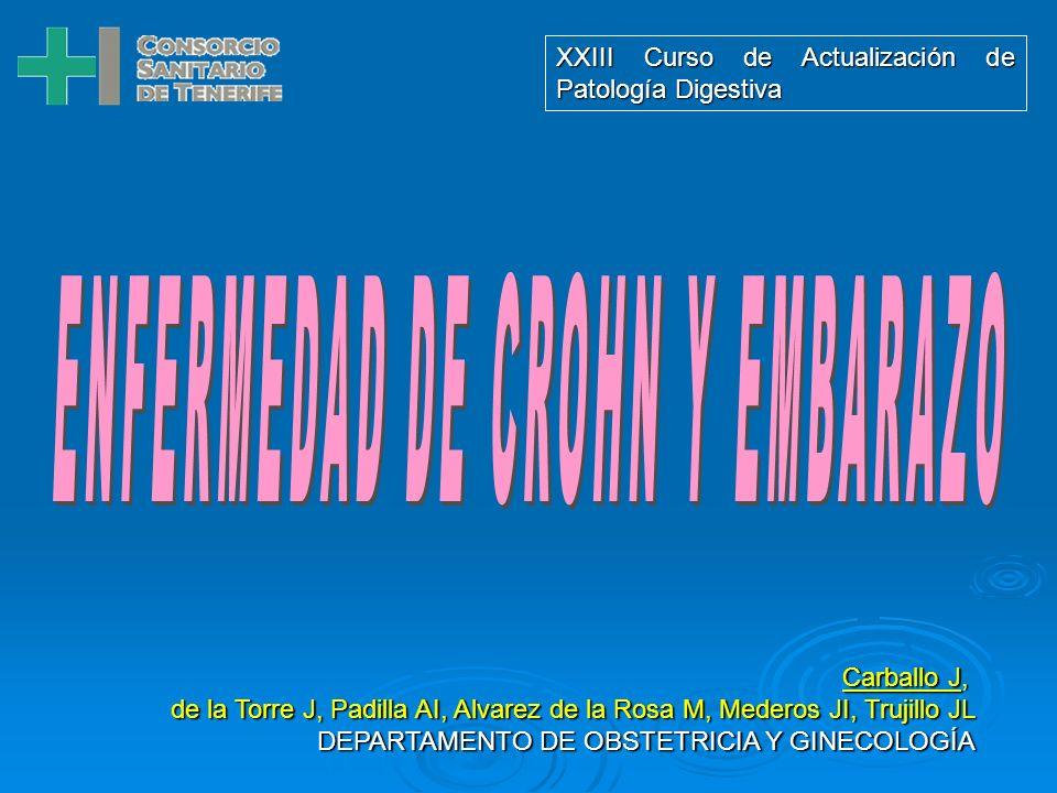 Carballo J, de la Torre J, Padilla AI, Alvarez de la Rosa M, Mederos JI, Trujillo JL DEPARTAMENTO DE OBSTETRICIA Y GINECOLOGÍA XXIII Curso de Actualización de Patología Digestiva