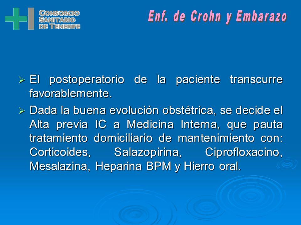 Se indica CESÁREA por: Se indica CESÁREA por: RCTG desacelerativo + RPM + cesárea anterior + gestación conseguida mediante TRA. Se realiza laparotomia