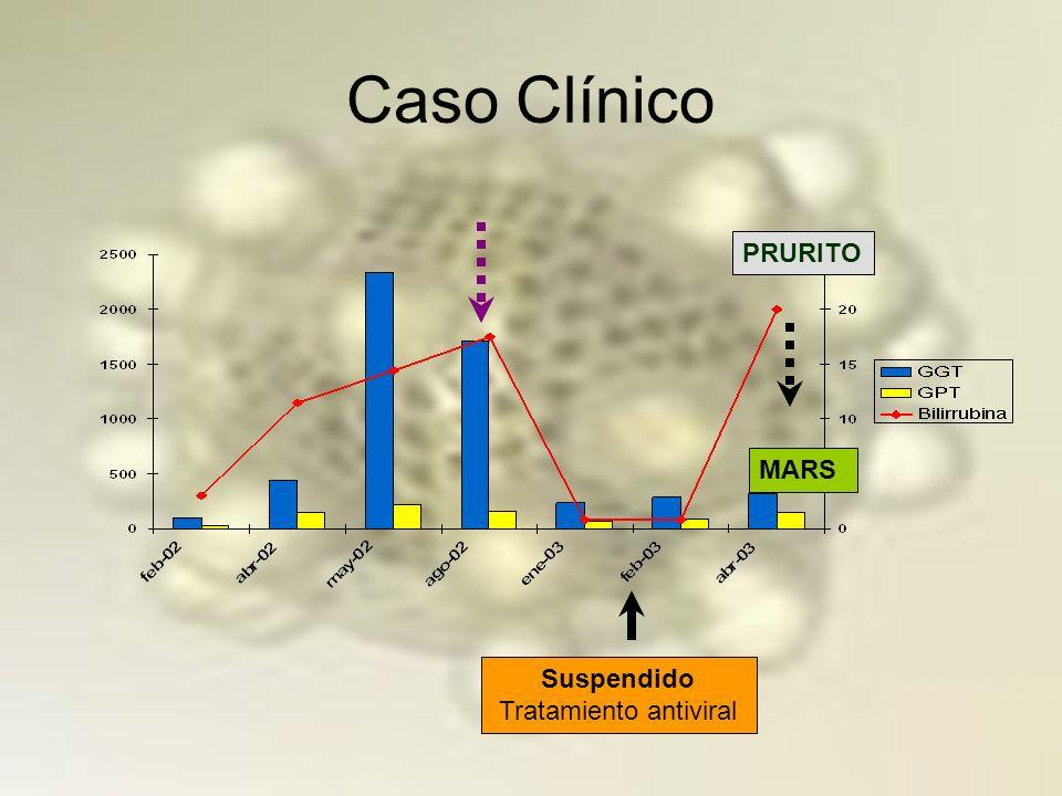 Caso Clínico BIOPSIA HEPÁTICA: Hepatitis portal y lobulillar, fibrosis portal y periportal.