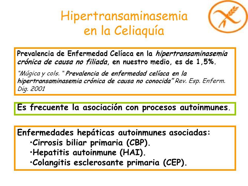 Hipertransaminasemia en la Celiaquía Prevalencia de Enfermedad Celíaca en la hipertransaminasemia crónica de causa no filiada, en nuestro medio, es de