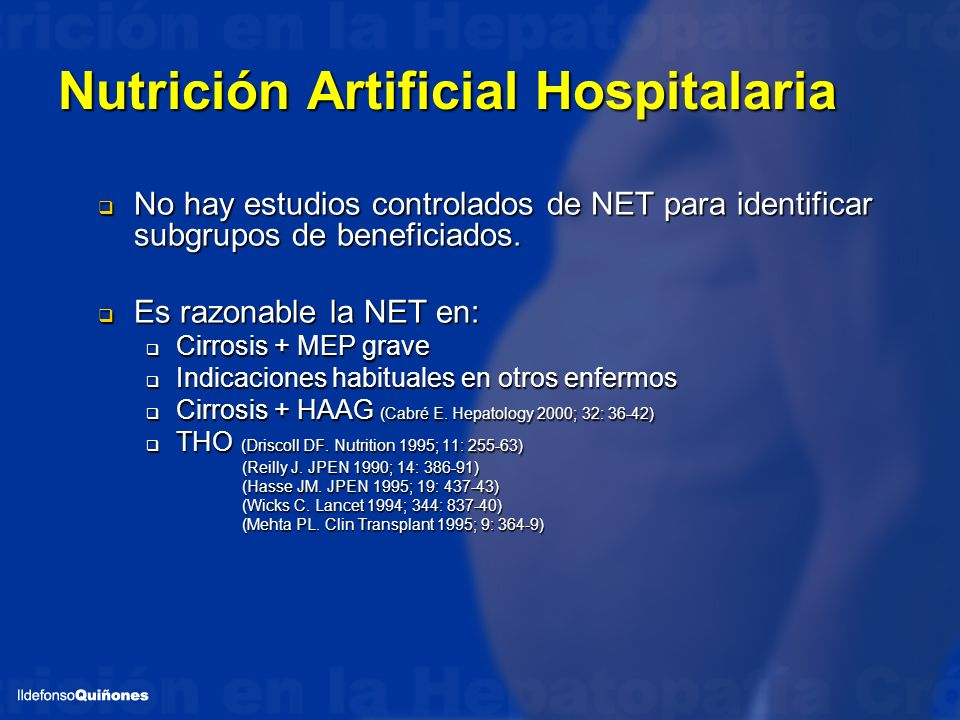Nutrición Artificial Hospitalaria Short- and long-term outcome of severe alcohol-induced hepatitis treated with steroids or enteral nutrition.