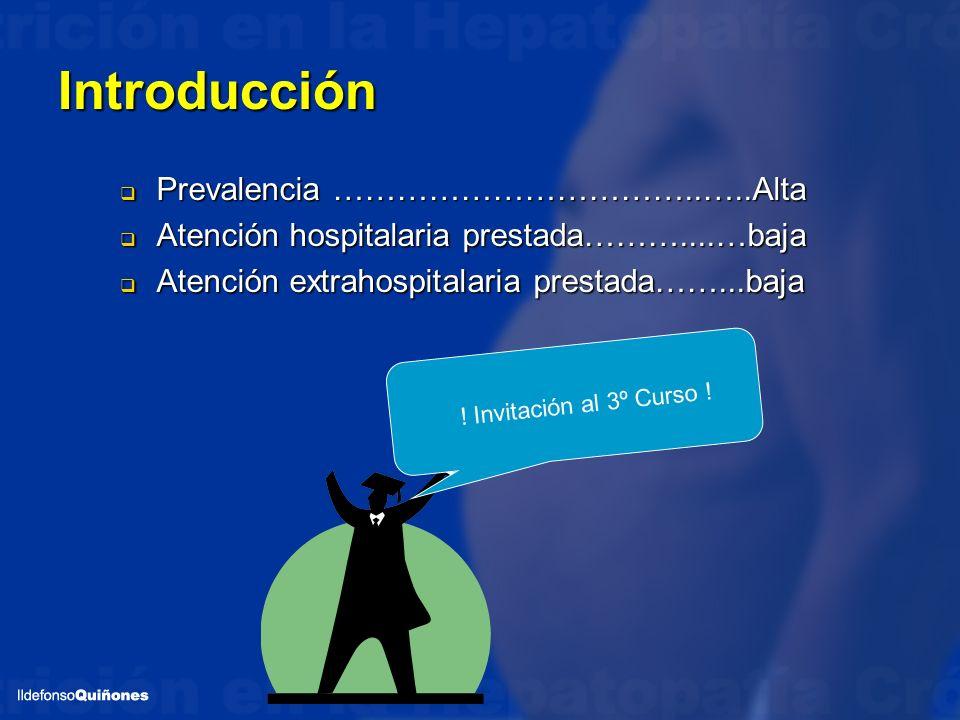 Introducción Prevalencia ……………………………..…..Alta Prevalencia ……………………………..…..Alta Atención hospitalaria prestada………....…baja Atención hospitalaria presta