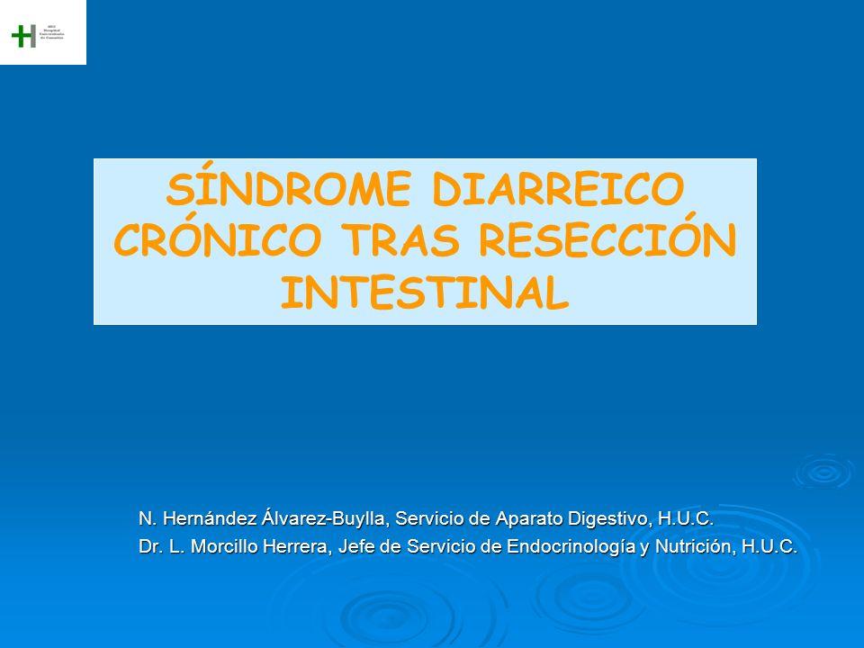 N. Hernández Álvarez-Buylla, Servicio de Aparato Digestivo, H.U.C. Dr. L. Morcillo Herrera, Jefe de Servicio de Endocrinología y Nutrición, H.U.C. SÍN