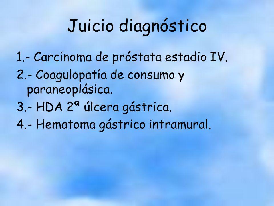 Hematoma intramural < frecuente Factores predisponentes: –Espontáneos: vómitos, fcos, alteraciones de la hemostasia.