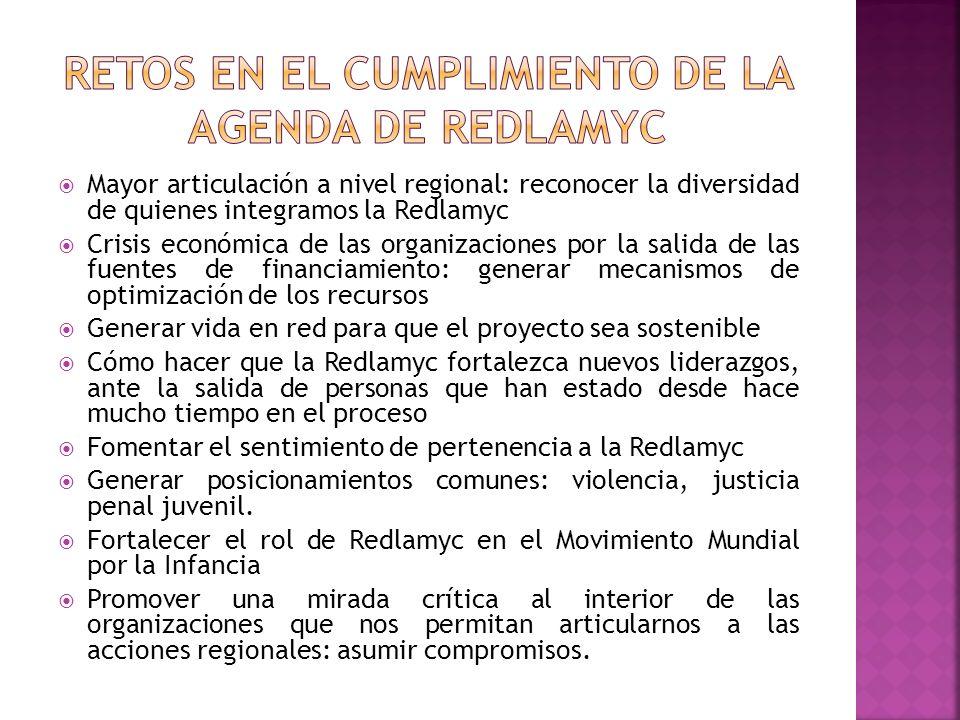 Mayor articulación a nivel regional: reconocer la diversidad de quienes integramos la Redlamyc Crisis económica de las organizaciones por la salida de