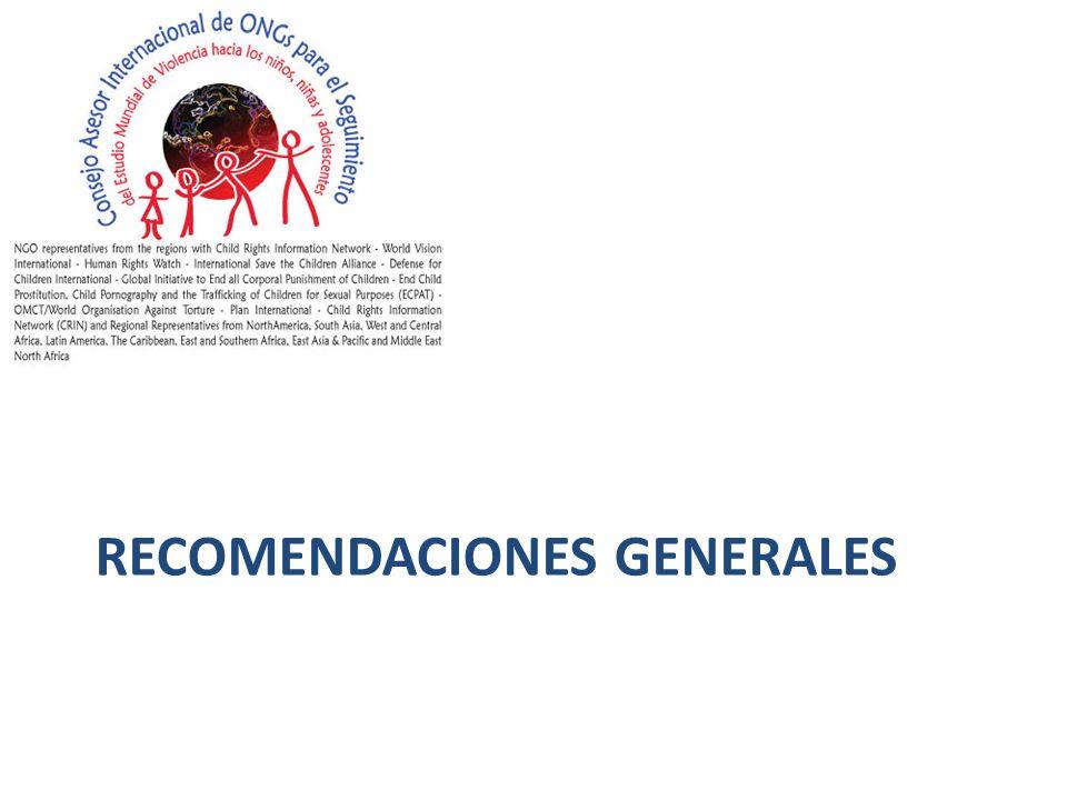 1.Fortalecer los compromisos y medidas nacionales y locales: Plan de acción general evaluable, coordinación efectiva, adecuación jurídica.