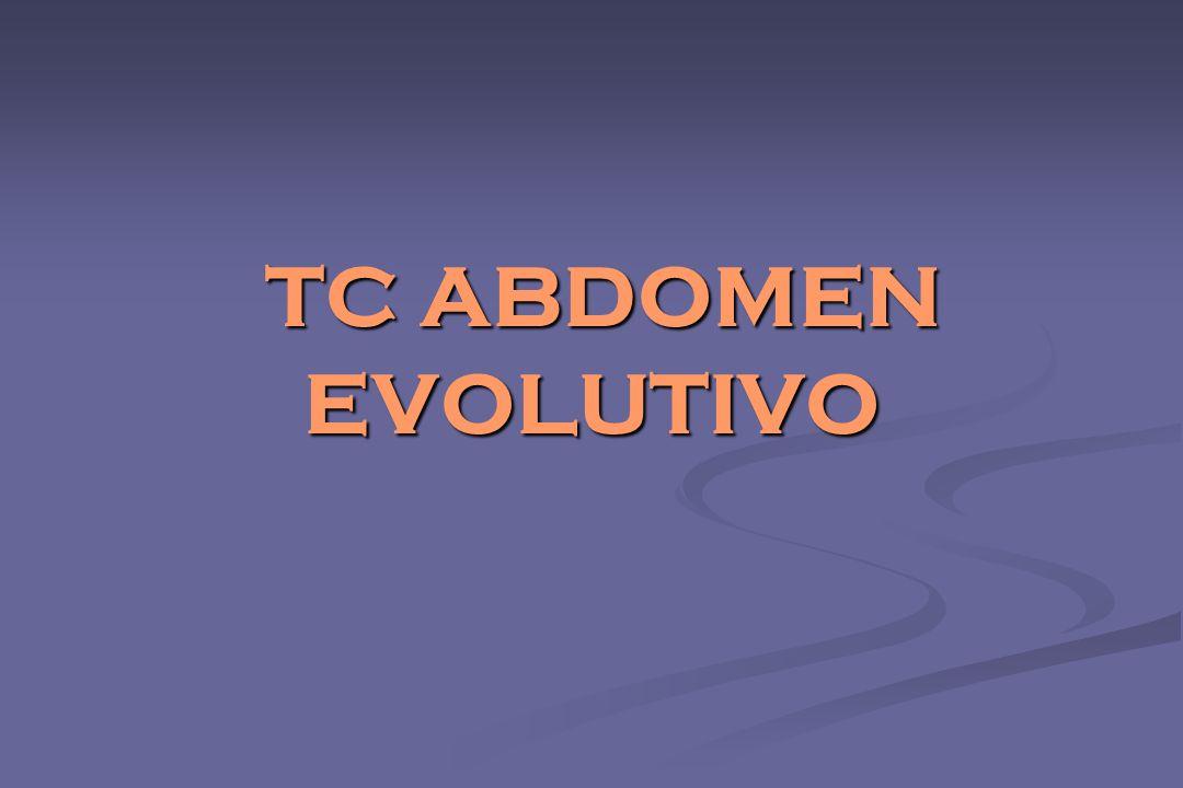 TC ABDOMEN EVOLUTIVO TC ABDOMEN EVOLUTIVO