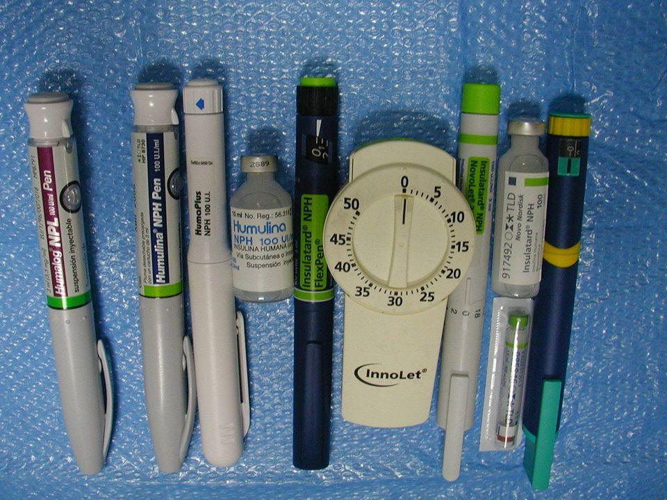 Dispositivos para la administración de insulina Inyectores tipo pluma